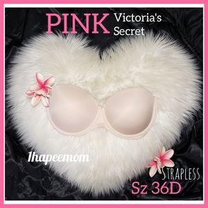 Pink Victoria's Secret Strapless Bra 36D